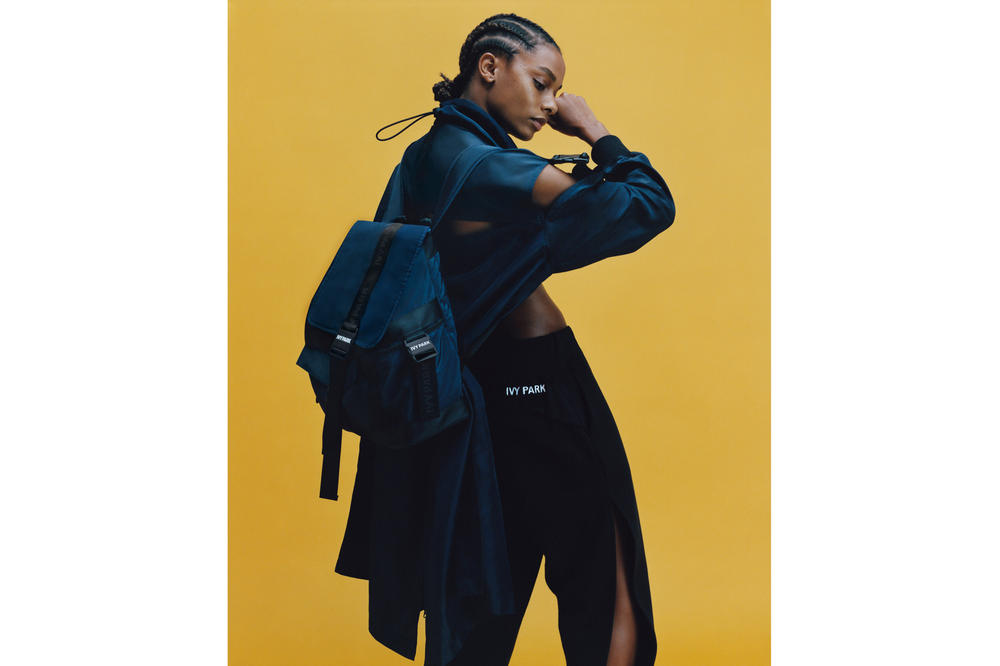 IVY PARK Spring/Summer 2018 Lookbook Shirt Tearaway Pants Black