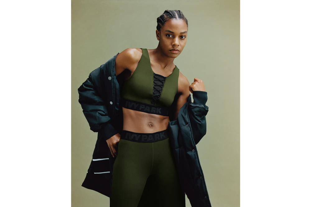 IVY PARK Spring/Summer 2018 Lookbook Logo Sports Bra Jacket Black