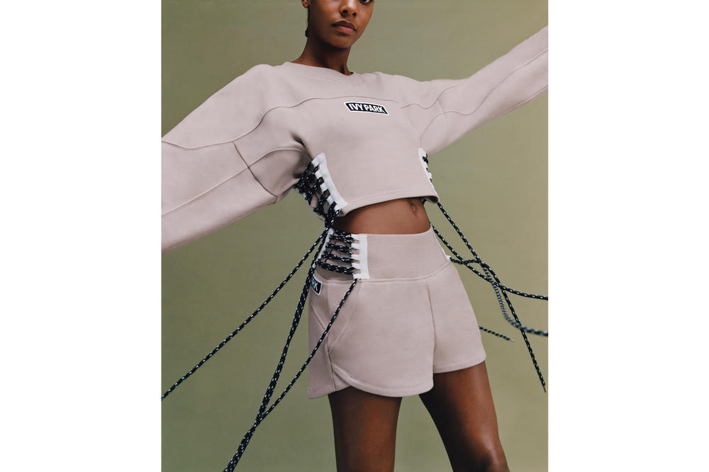 IVY PARK Spring/Summer 2018 Lookbook Harness Shirt Shorts Sandstone