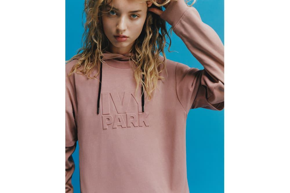 IVY PARK Spring/Summer 2018 Lookbook Logo Hoodie Pink