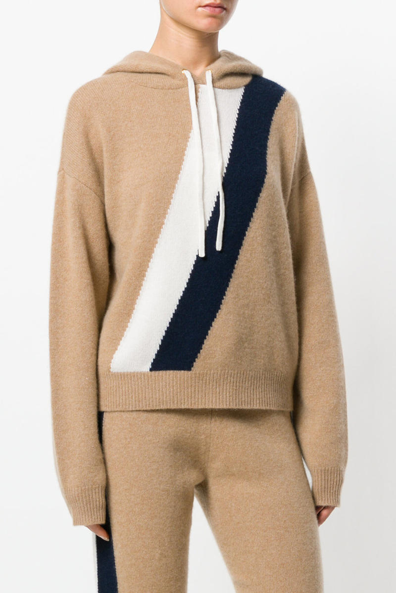 f20879fcd2c7 Juicy Couture Cashmere Tracksuit Farfetch Beige Tan Grey Red Blue White  Yellow Striped Track Pants Hoodie