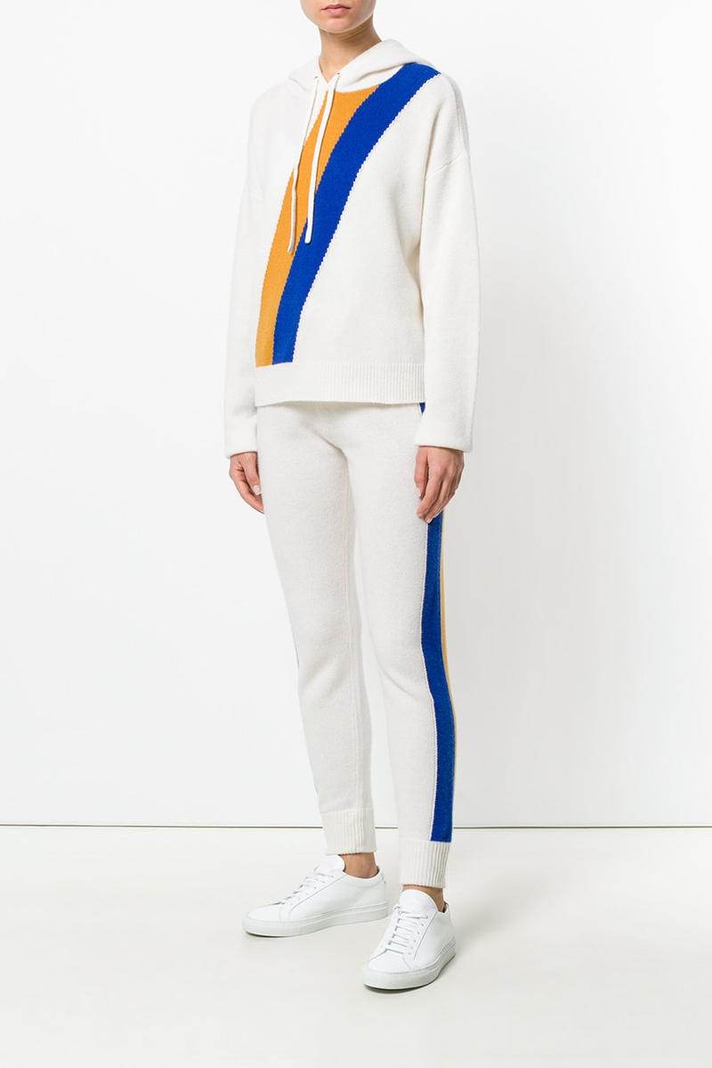 Juicy Couture Cashmere Tracksuit Farfetch Beige Tan Grey Red Blue White Yellow Striped Track Pants Hoodie