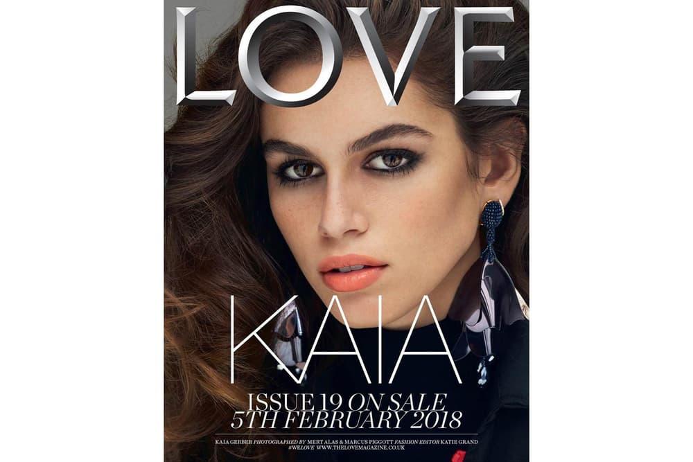Kaia Gerber LOVE Magazine February 2018 Issue 19 Cover