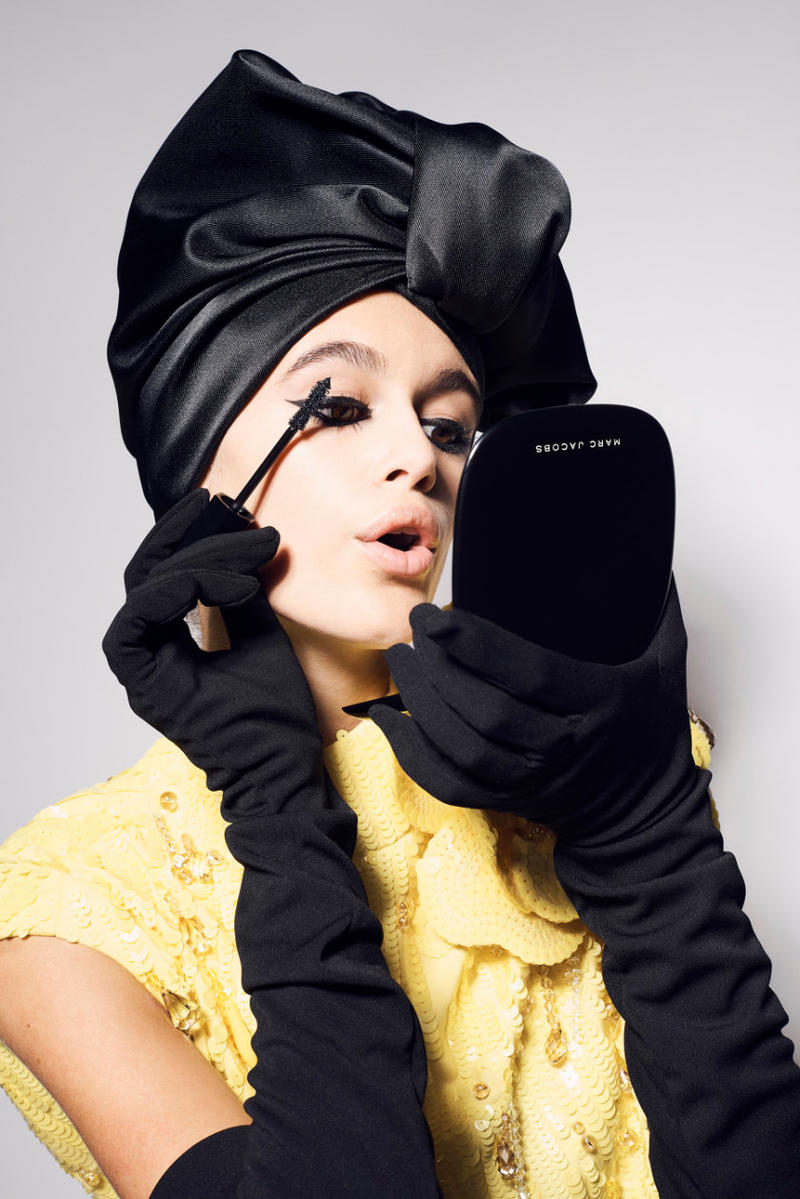 kaia gerber marc jacobs beauty Velvet Noir Major Volume mascara cindy crawford vogue campaign