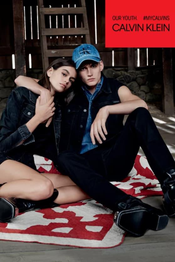 Kaia Gerber Presley Gerber Calvin Klein Jeans Denim Campaign Ad