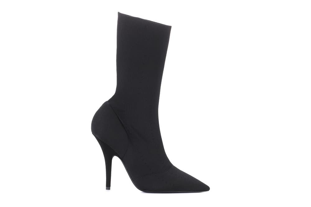 Kanye West YEEZY Season 6 Ankle Boots Satin Mules Kim Kardashian mytheresa.com Black Heel