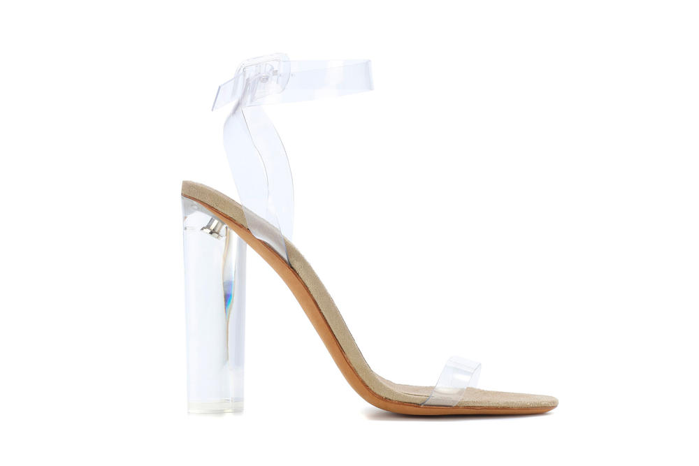 29c4cad9802 Kanye West YEEZY Season 6 Transparent Heels Sandals mytheresa.com