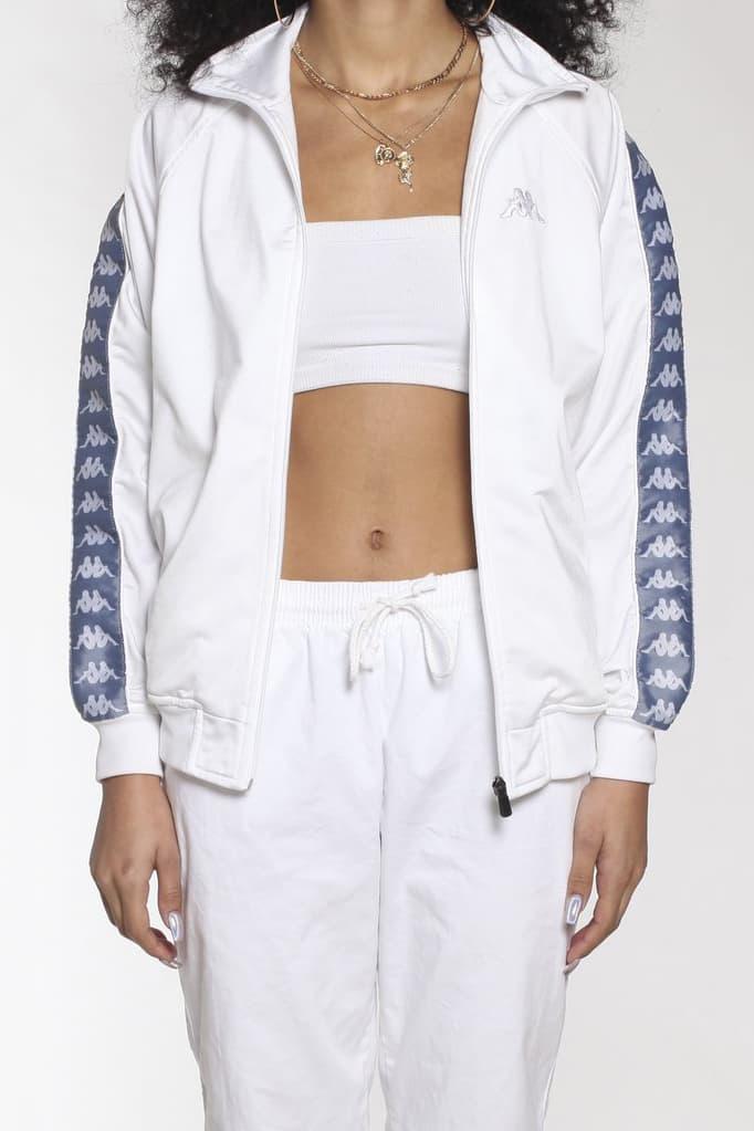kappa vintage rework frankie collective windbreaker jacket white