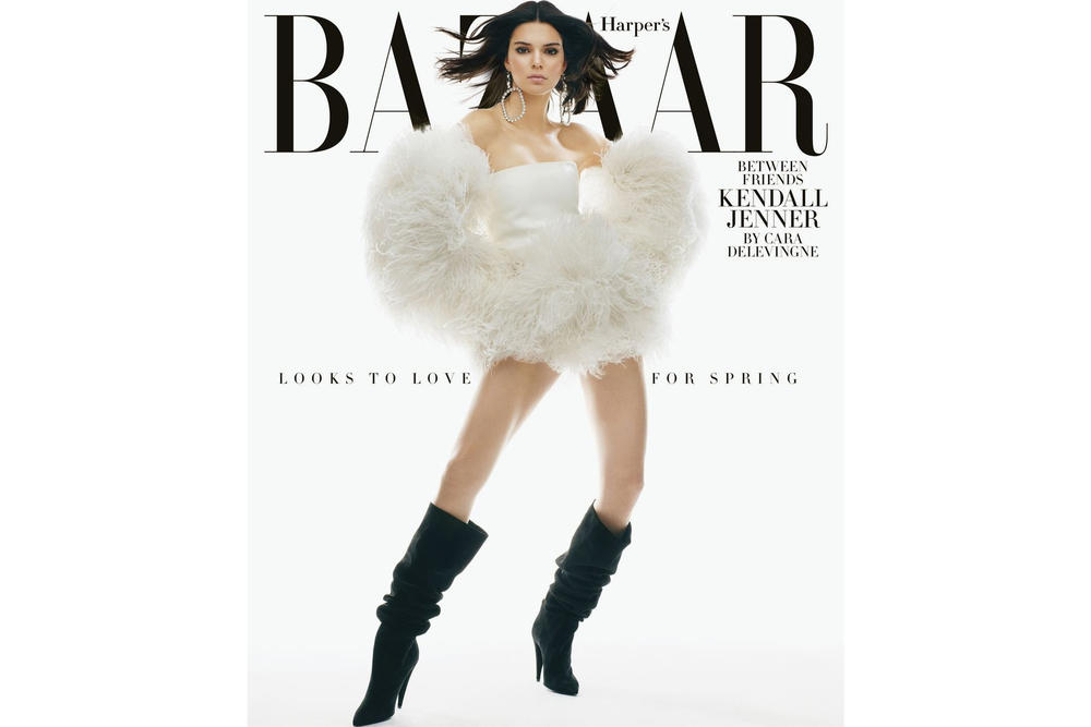 Kendall Jenner Interview Cara Delevingne Harpers Bazaar February 2018 Issue Cover Editorial Supermodel Model