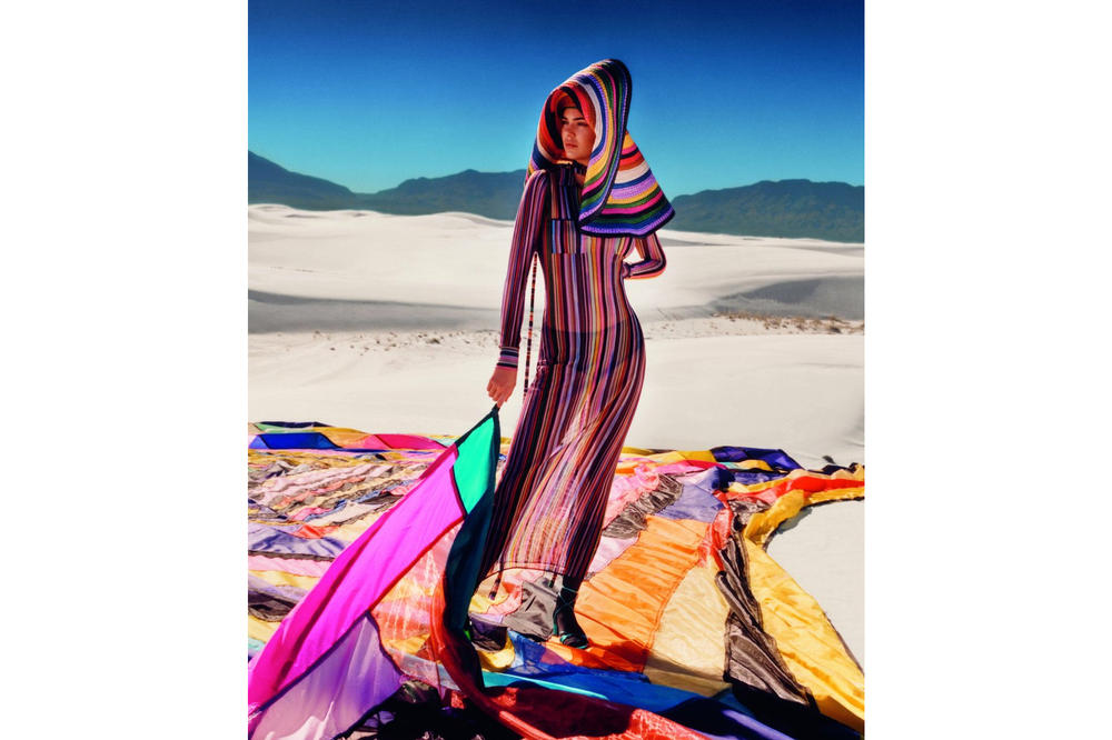 Kendall Jenner Missoni Colorful Spring Summer 2018 Photoshoot White Sands National Monument Campaign Ad