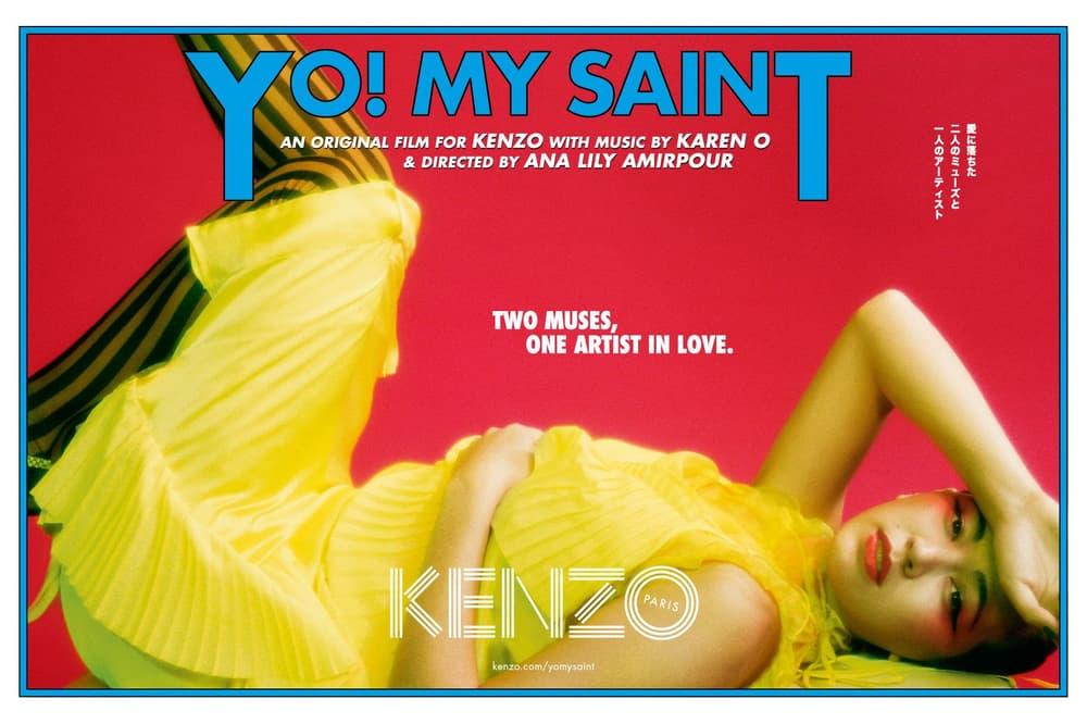 KENZO Karen O Ana Lily Amirpour Kiko Mizuhara Humberto Leon Carol Lim Movie Film Short Original Music YO MY SAINT