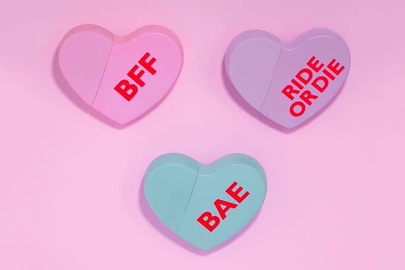 Kim Kardashian Kimoji Heart Fragrance Perfume Candy Pink Purple Blue BAE Ride or Die BFF Valentine's Day
