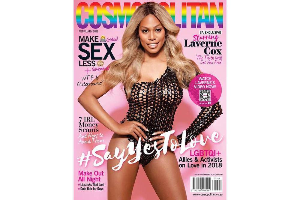 Laverne Cox Cosmopolitan South Africa Magazine Cover