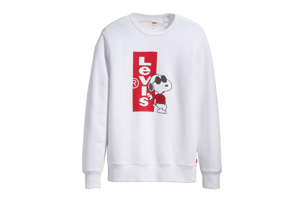 Levis Peanuts Snoopy Year of the Dog Collaboration Crewneck Sweatshirt