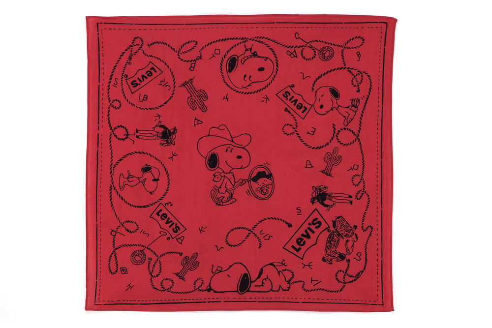 Levis Peanuts Snoopy Year of the Dog Collaboration Square Scarf Bandana