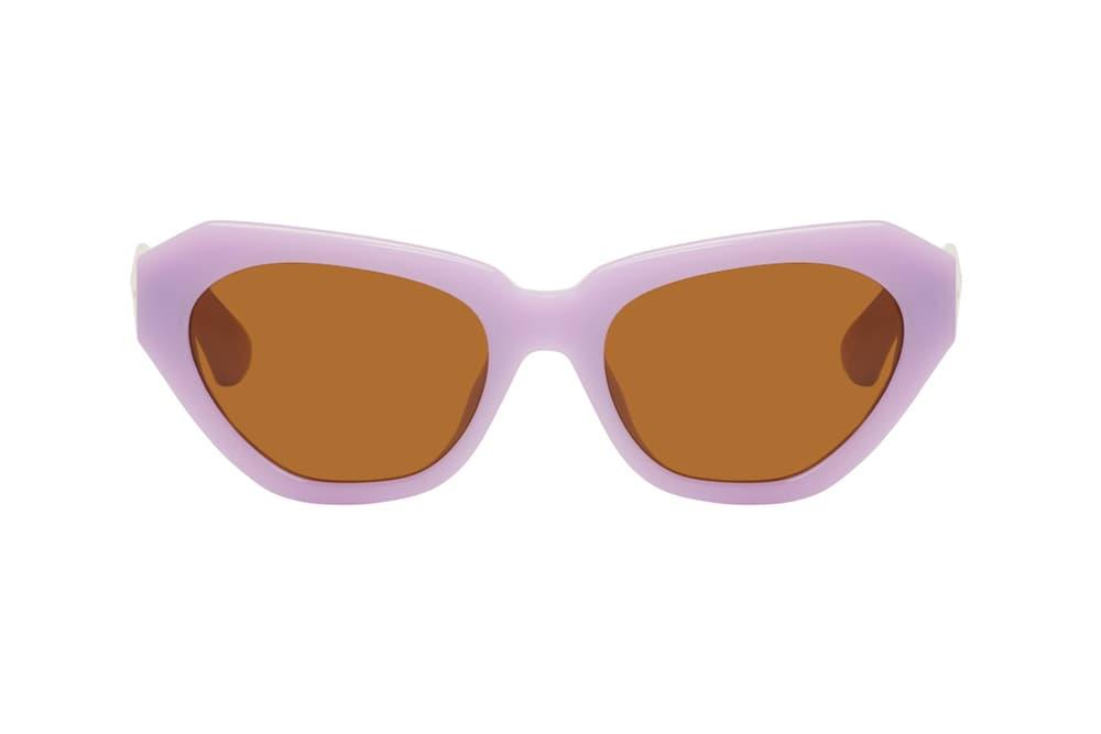 Dries Van Noten Linda Farrow edition 166 sunglasses shades collaboration 2018 peony pink purple lilac ultra violet black tallow ivory ssense