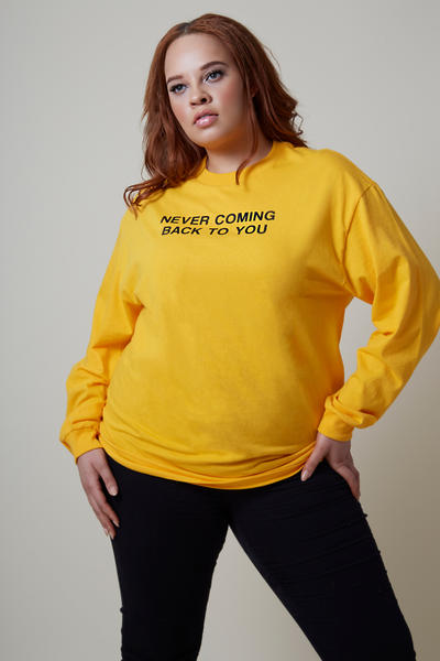 Married to the Mob Capsule Collection Gold Never Coming Back To You Longsleeve Shirt