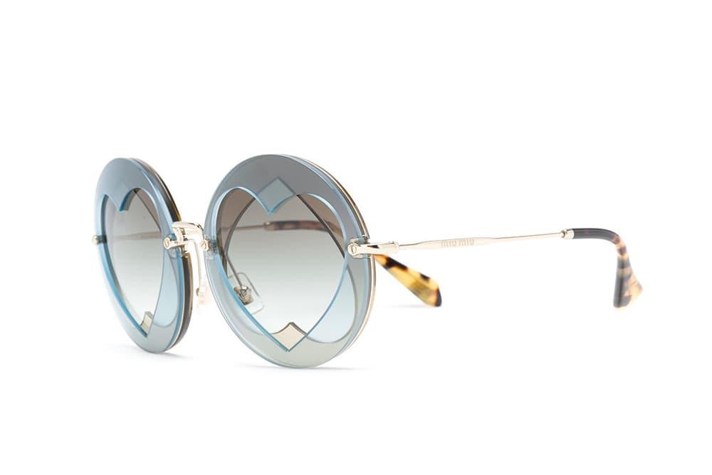 Miu Miu Statement Heart Sunglasses Lens Heart Shape Geometry Shades