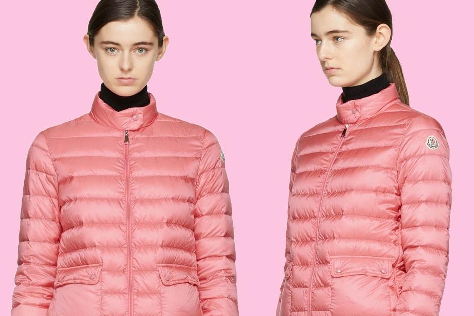 73aadbf2f Shop Moncler's Down Lans Jacket in Pastel Pink | HYPEBAE