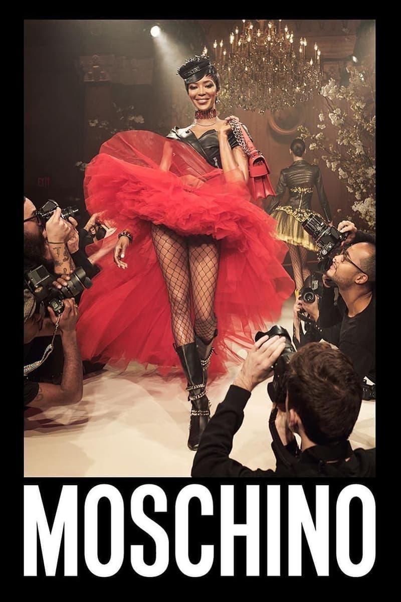 Naomi Campbell Moschino Jeremy Scott Ad Campaign Fashion Ad Runway Haute Couture Collection Adut Akech Bior Yasmin Wijnaldum