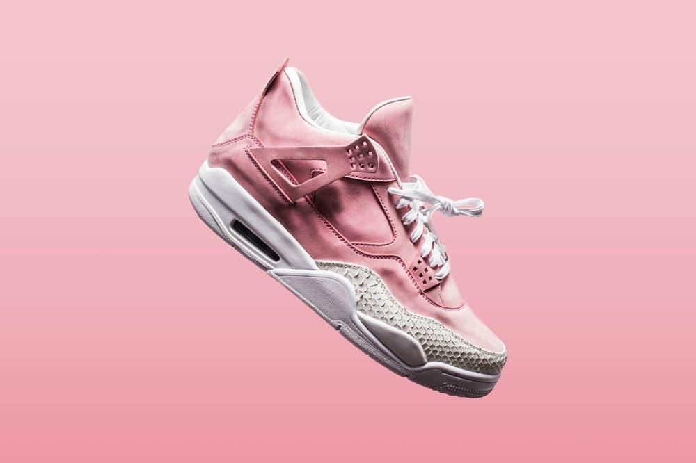 ade15a4996d Shop The Shoe Surgeon's Pastel Pink Air Jordan 4 | HYPEBAE