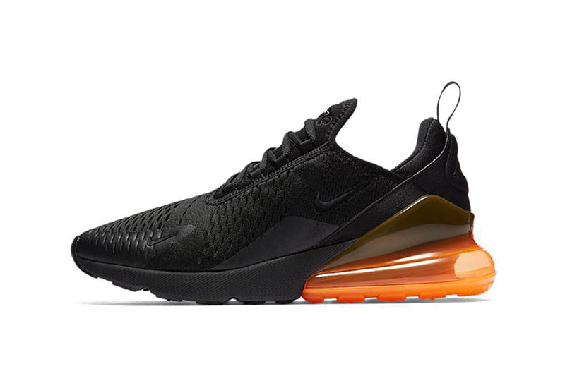 Nike Air Max 270 Silhouette Heel Boost Air Heel Sole Black Red Orange White Lime Green