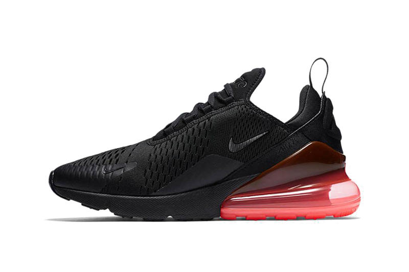 ec9b3bbddd08 Nike Air Max 270 Silhouette Heel Boost Air Heel Sole Black Red Orange White  Lime Green