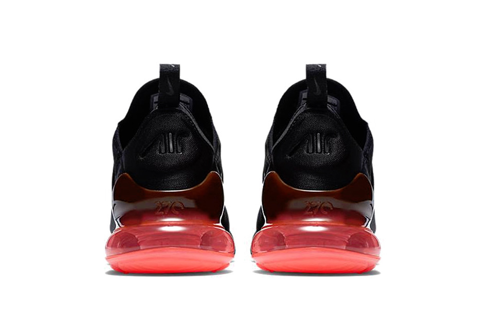 Nike Air Max 270 Silhouette In Orange