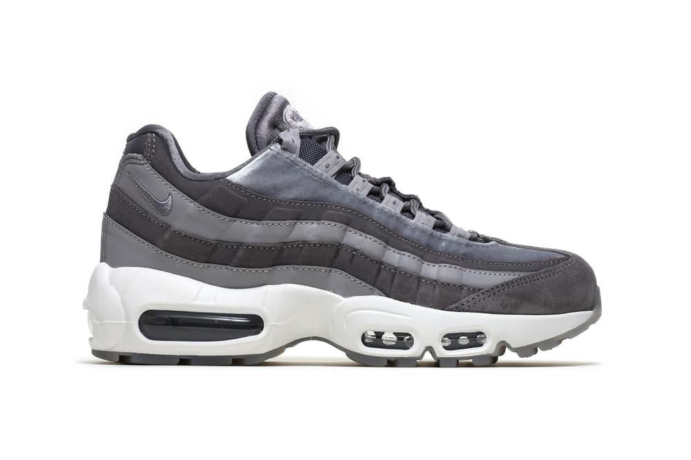 Nike air max 95 womens sneakers gunsmoke grey velvet atmosphere white