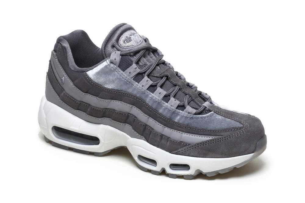 Nike air max 95 womens sneakers gunsmoke grey velvet atmosphere white