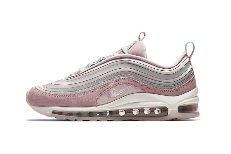 Nike Air Max 97 Ultra LX Particle Pink Vast Grey Summit White Sneaker Suede  Leather Textile 37310b76a3