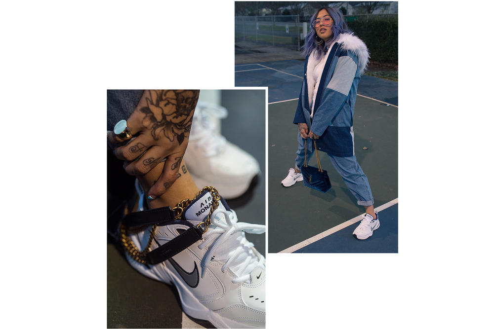 nike air monarch style editorial nice kicks