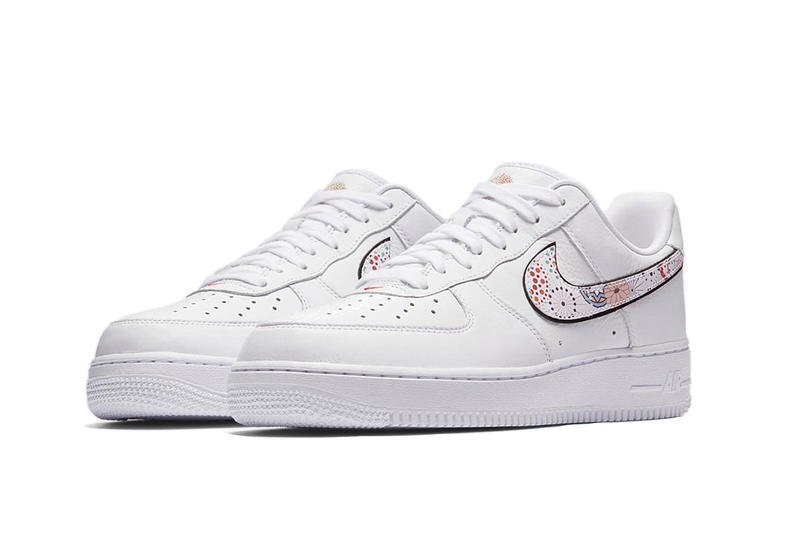 Nike Air Force 1 Lunar New Year Capsule Chinese New Year Floral Fireworks Aesthetic Traditional White Special Field SF AF1 Sneaker Shoe Silhouette