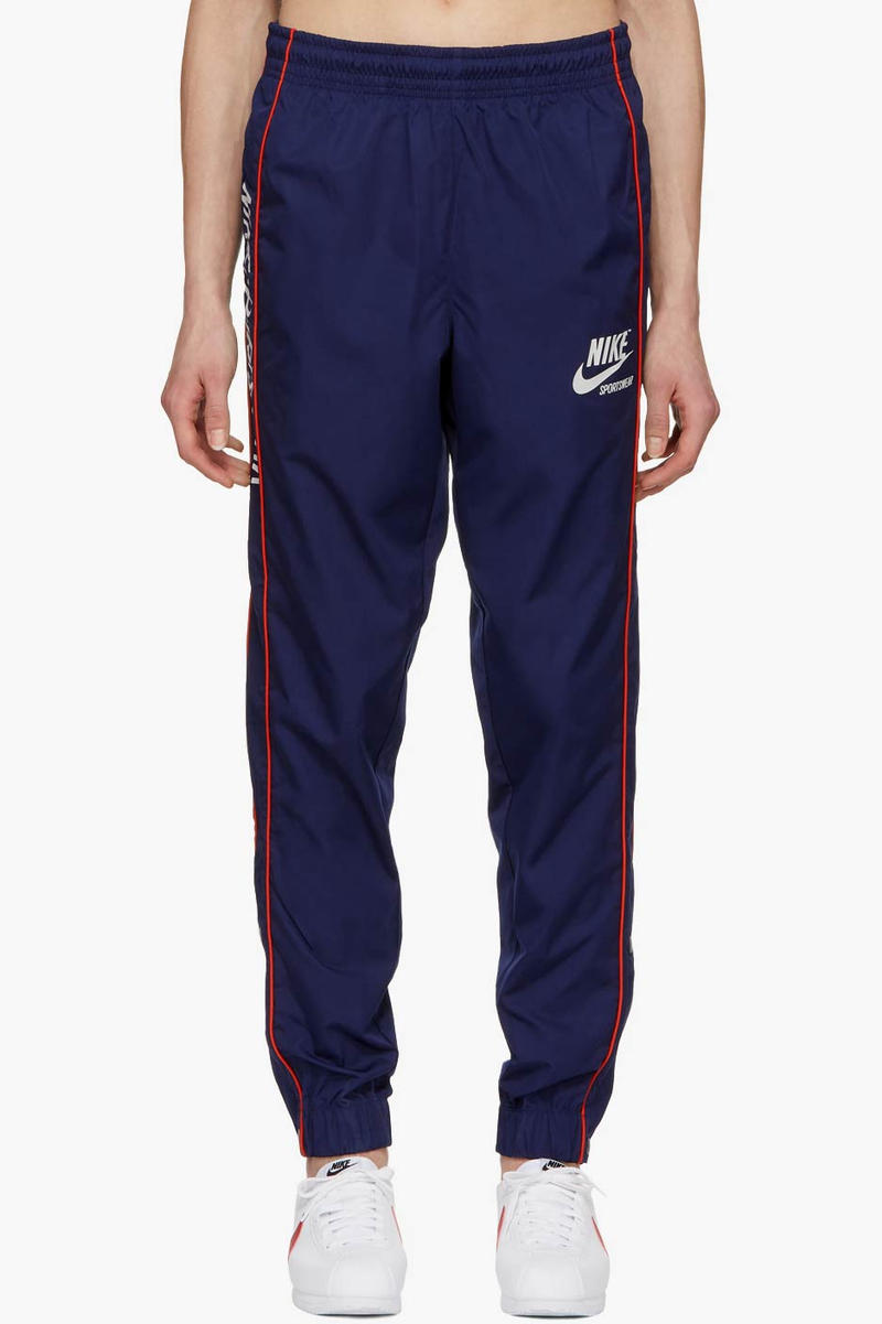 Nike Snap Button Track Pants Navy