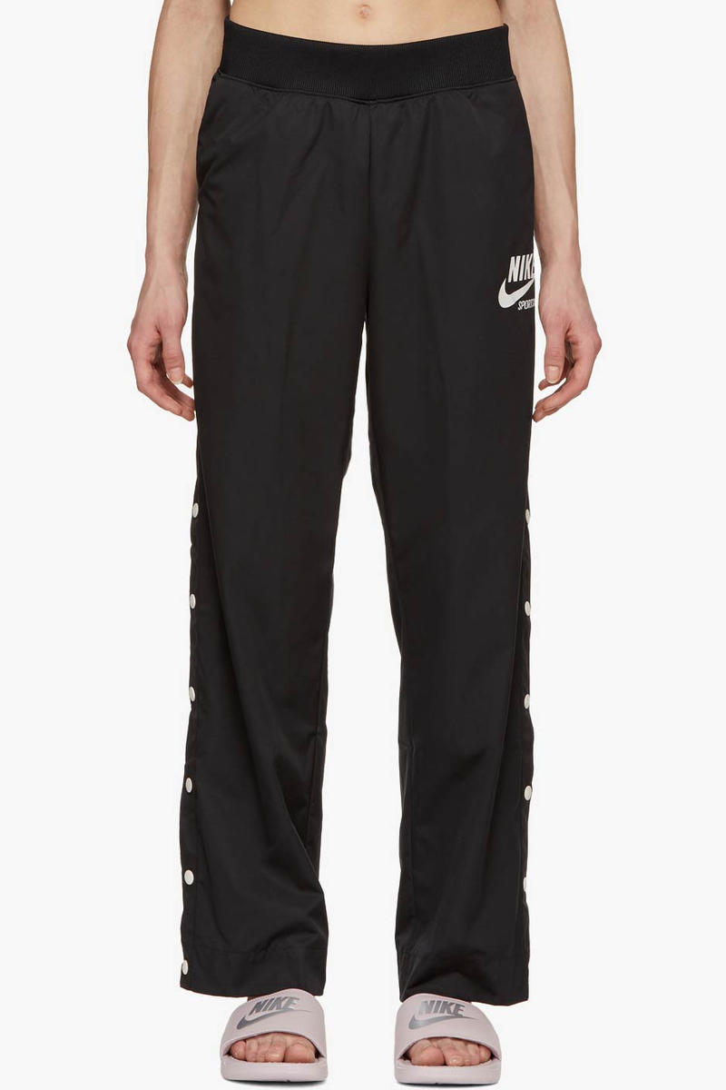 Nike Snap Button Track Pants Black