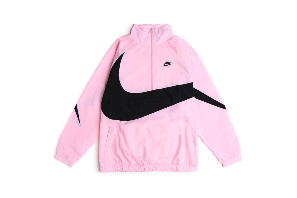 1c8ebd5263 Nike Sportswear Swoosh Woven Halfzip Jacket Pink