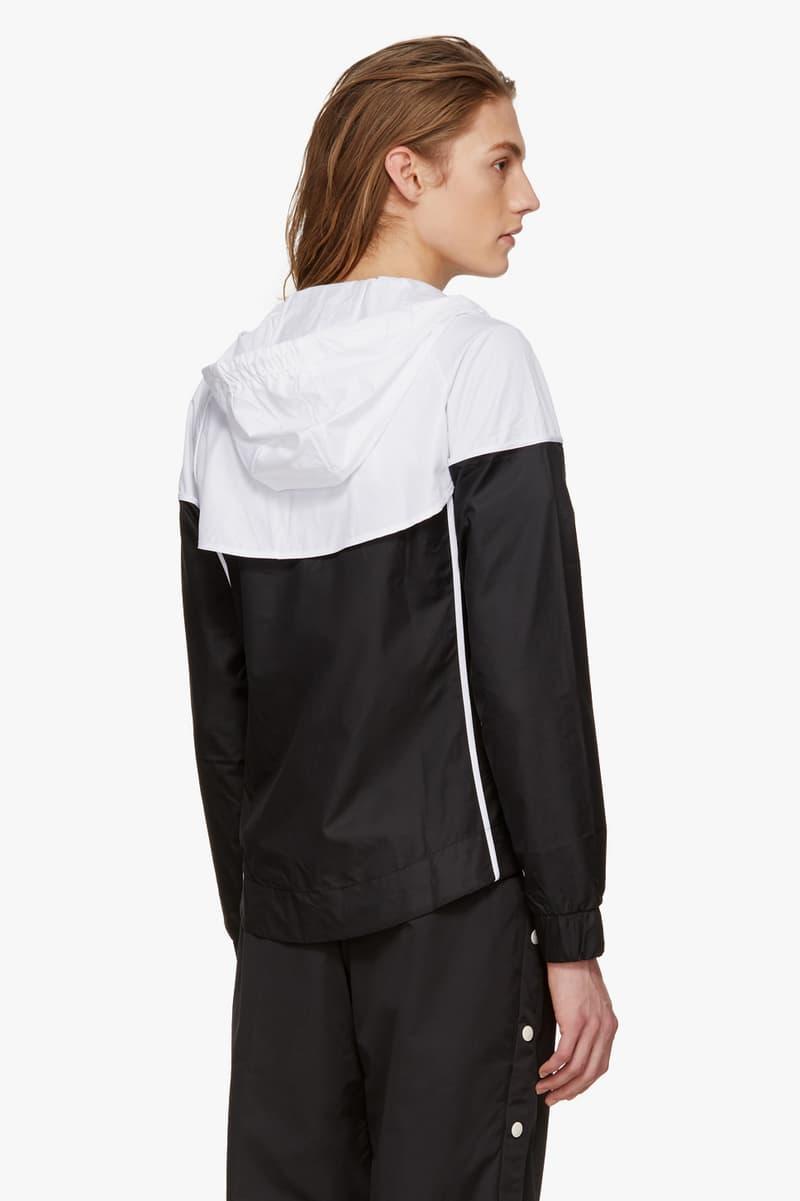 nike track jackets navy black white