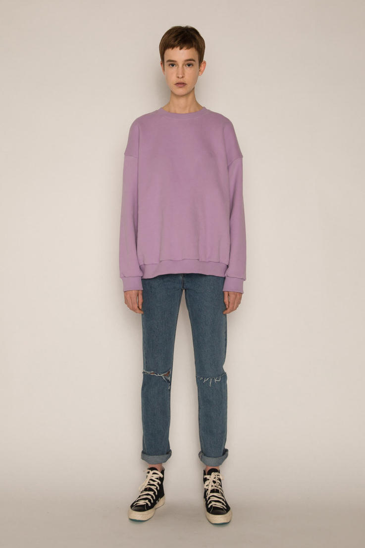 Oak + fort ultra violet light purple lavender t shirt top sweater tailored jacket oversized sweatshirt pantone color of the year 2018 where to buy