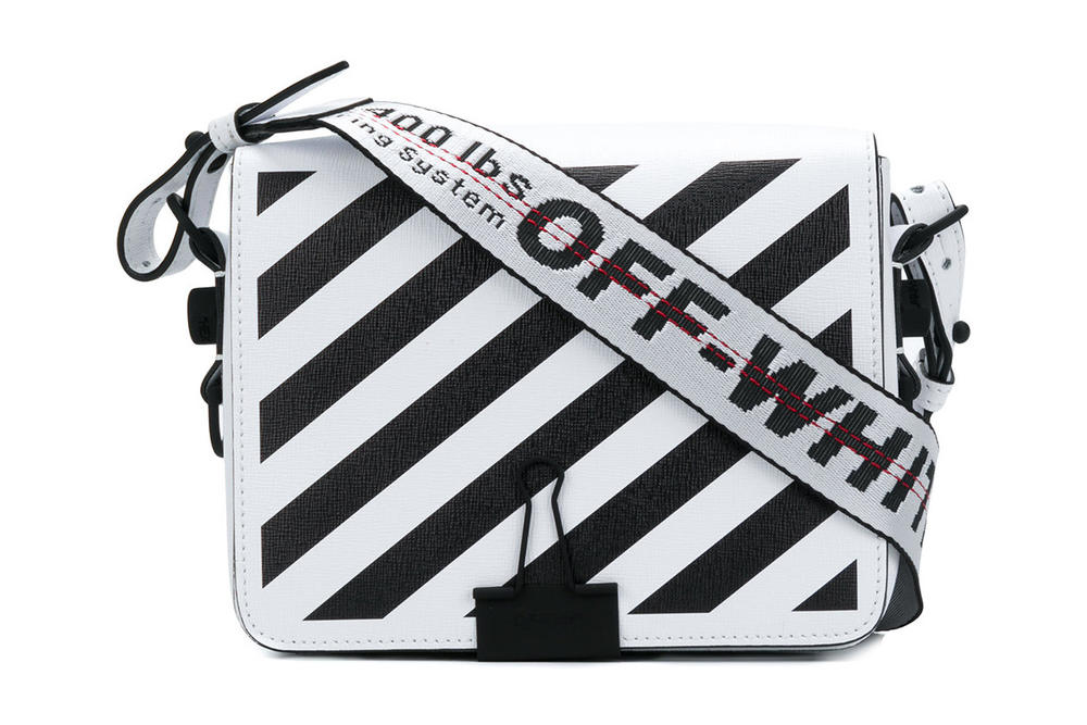 f5361d946bee Off-White™ off white virgil abloh handbag strap black white diagonal  stripes binder clip