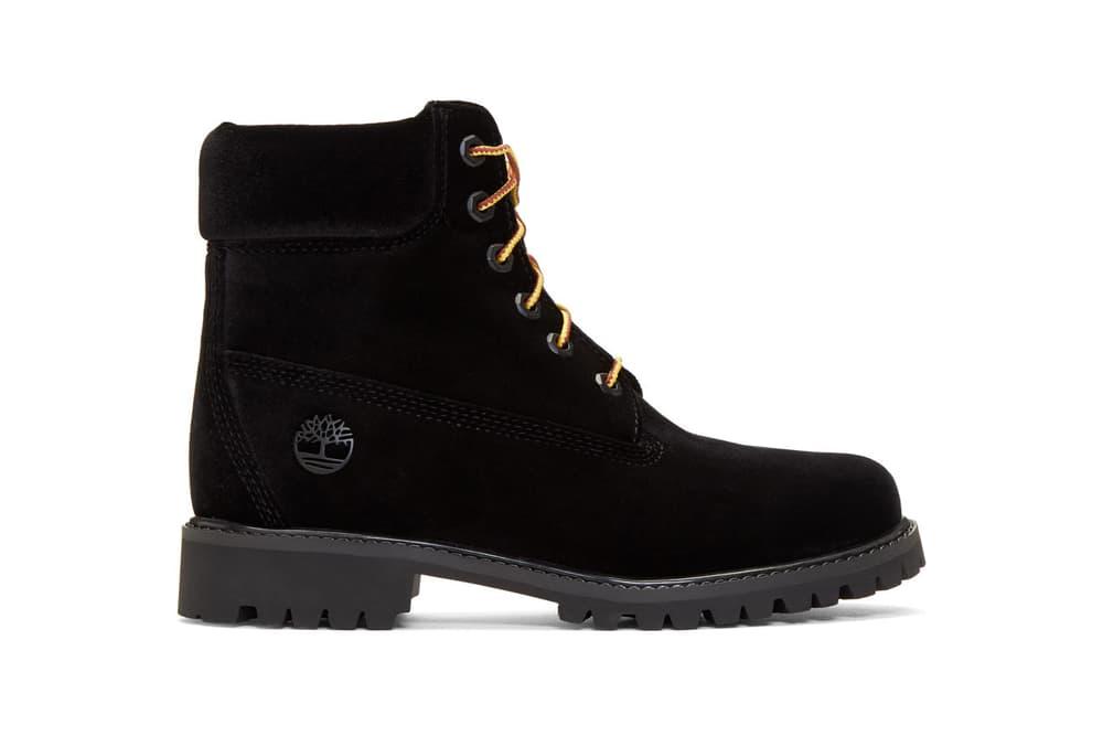 Off-White x Timberland Velvet Boots Tan Black