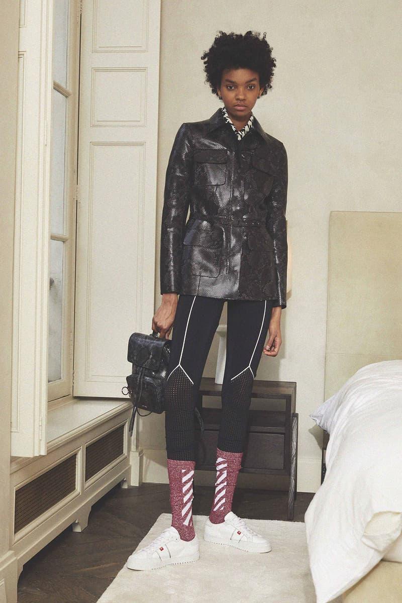 Off White Virgil Abloh Pre Fall 2018 Collection Snakeskin Backpack Socks Sneakers