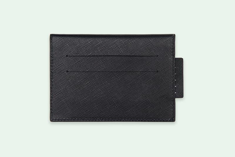 Off-White Virgil Abloh Sculpture Wallet Black White Diag Leather