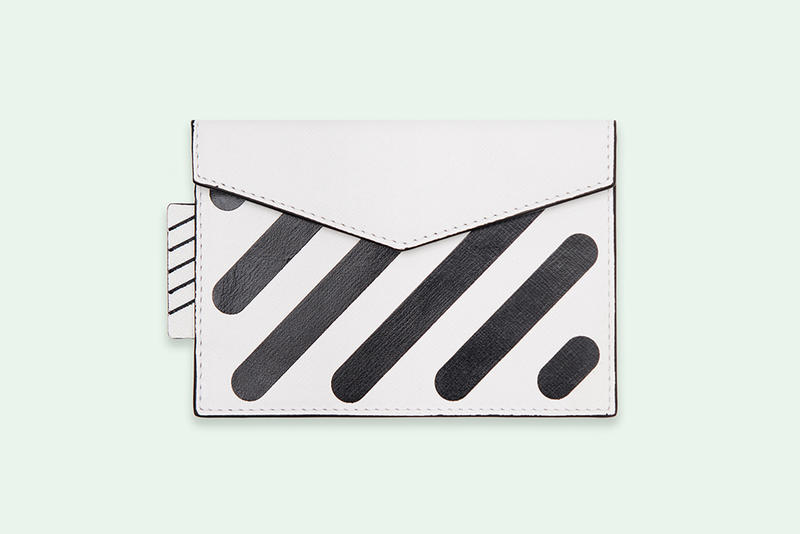 Off-White Virgil Abloh Sculpture Wallet Black White Diag Leather