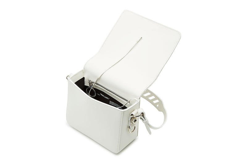 OFF-WHITE Virgil Abloh pre spring 2018 white leather handbag boxy bag where to buy