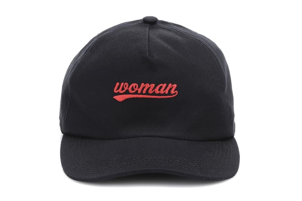 Off-White virgil abloh baseball cap black red woman embroidered feminist feminism