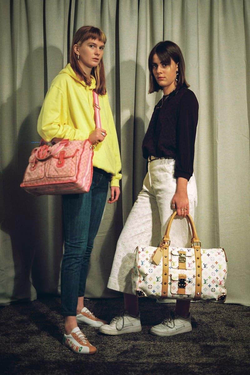 Vintage Pink White Louis Vuitton Bag