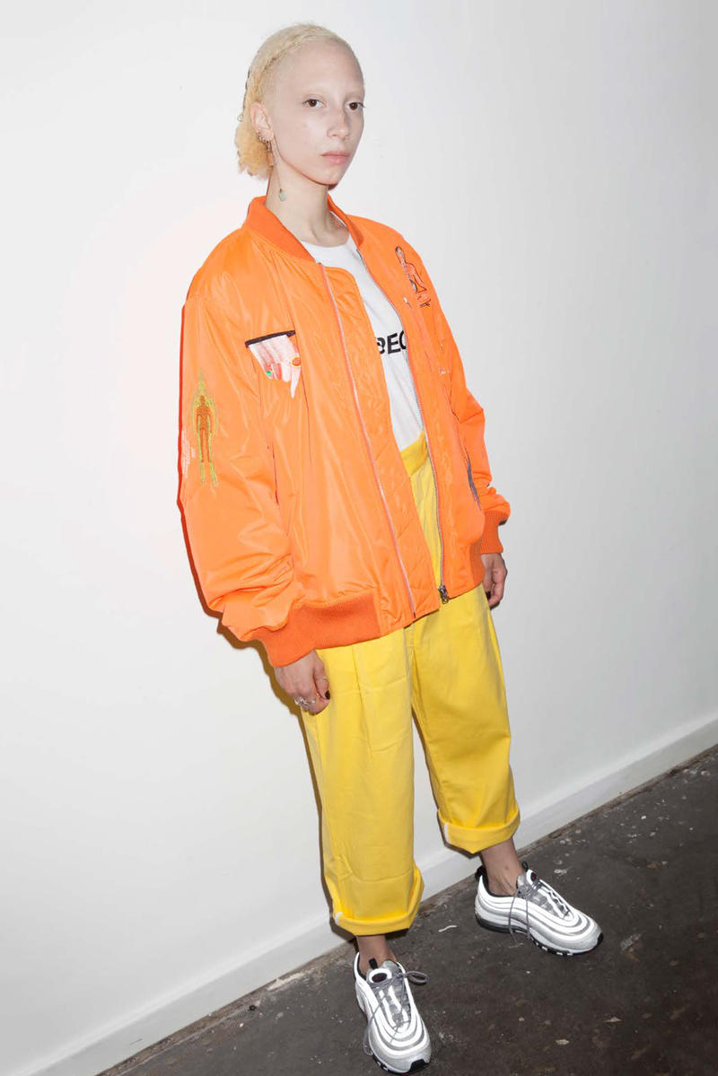 P.A.M. Women's Spring/Summer 2018 Lookbook Orange Bomber Jacket Yellow Pants
