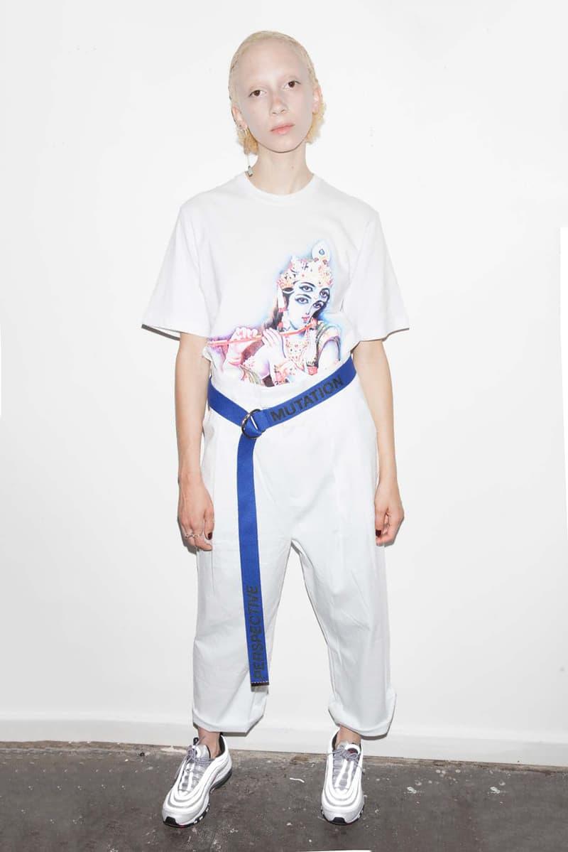 P.A.M. Women's Spring/Summer 2018 Lookbook White T-Shirt Pants Blue Utility Belt