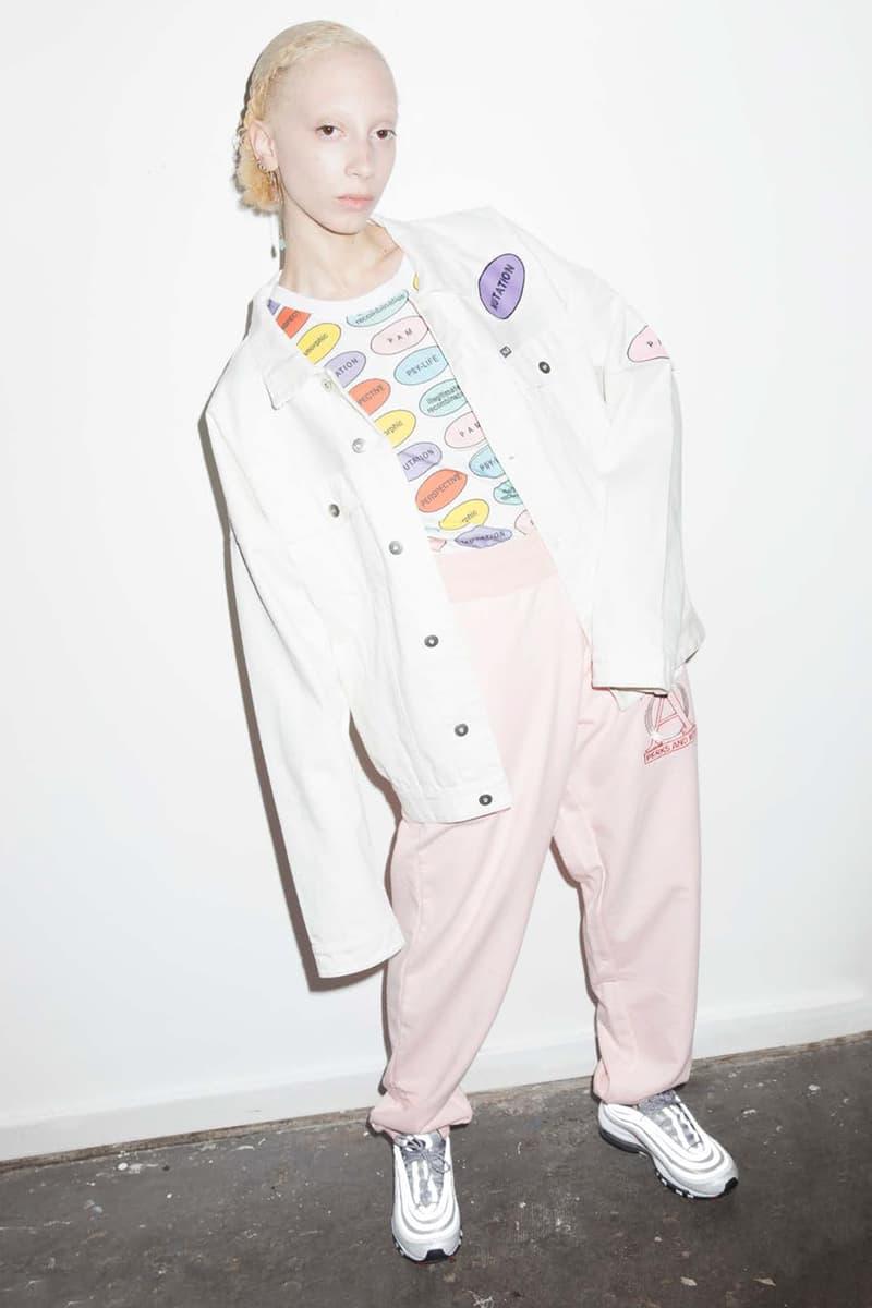 P.A.M. Women's Spring/Summer 2018 Lookbook Millennial Pink Pants White Denim Jacket