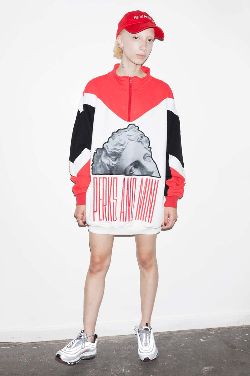 P.A.M. Women's Spring/Summer 2018 Lookbook Red White Sweater Hat
